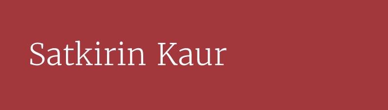 Satkirin Khalsa